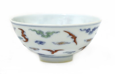 Lot 35 - A Chinese doucai tea bowl