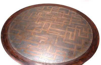 Lot 520 - A Danish circular rosewood coffee table, §