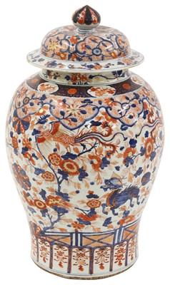 Lot 11 - A large Chinese Imari jar