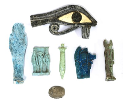 Lot 177 - A group of Egyptian antiquities