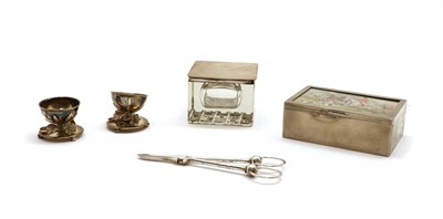 Lot 49 - Five silver and silver plated items