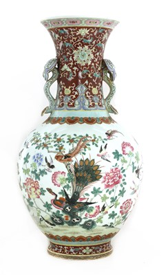 Lot 52 - A Chinese famille rose vase