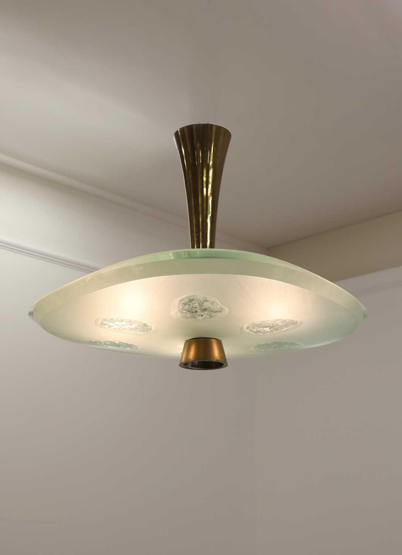 Lot 607 - A Fontana Arte 'Model 1748' ceiling light