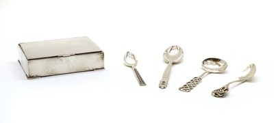 Lot 50 - A small collection of Scandinavian silver items