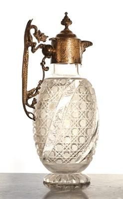 Lot 506 - A Victorian silver-mounted Stourbridge glass claret jug