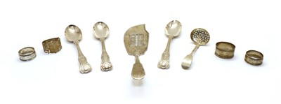 Lot 84 - A collection of silver flatware