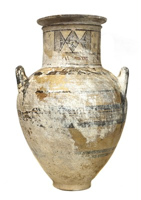 Lot 453 - A Cypriot bichrome ware pottery amphora
