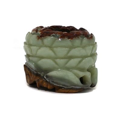 Lot 87 - A Chinese jade waterpot