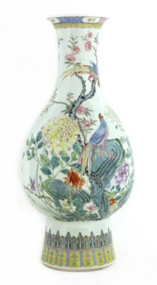 Lot 39 - A Chinese famille rose vase