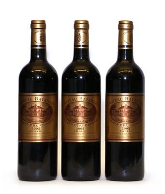 Lot 97 - Chateau Batailley, 5eme Cru Classe, Pauillac, 2005, three bottles