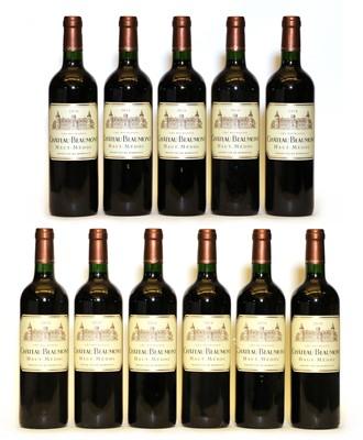 Lot 100 - Chateau Beaumont, Haut Medoc, Cru Bourgeois, 2010, eleven bottles
