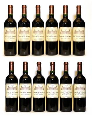 Lot 102 - Chateau Beaumont, Haut Medoc, Cru Bourgeois, 2014, twelve bottles (boxed)
