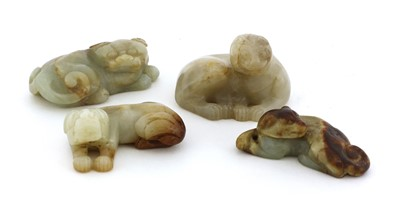 Lot 71 - A collection of four Chinese jade carvings