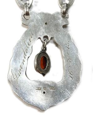 Lot 37 - A Danish Skønvirke silver necklace, by Bernhard Hertz
