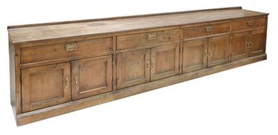 Lot 619 - A large pine kitchen dresser