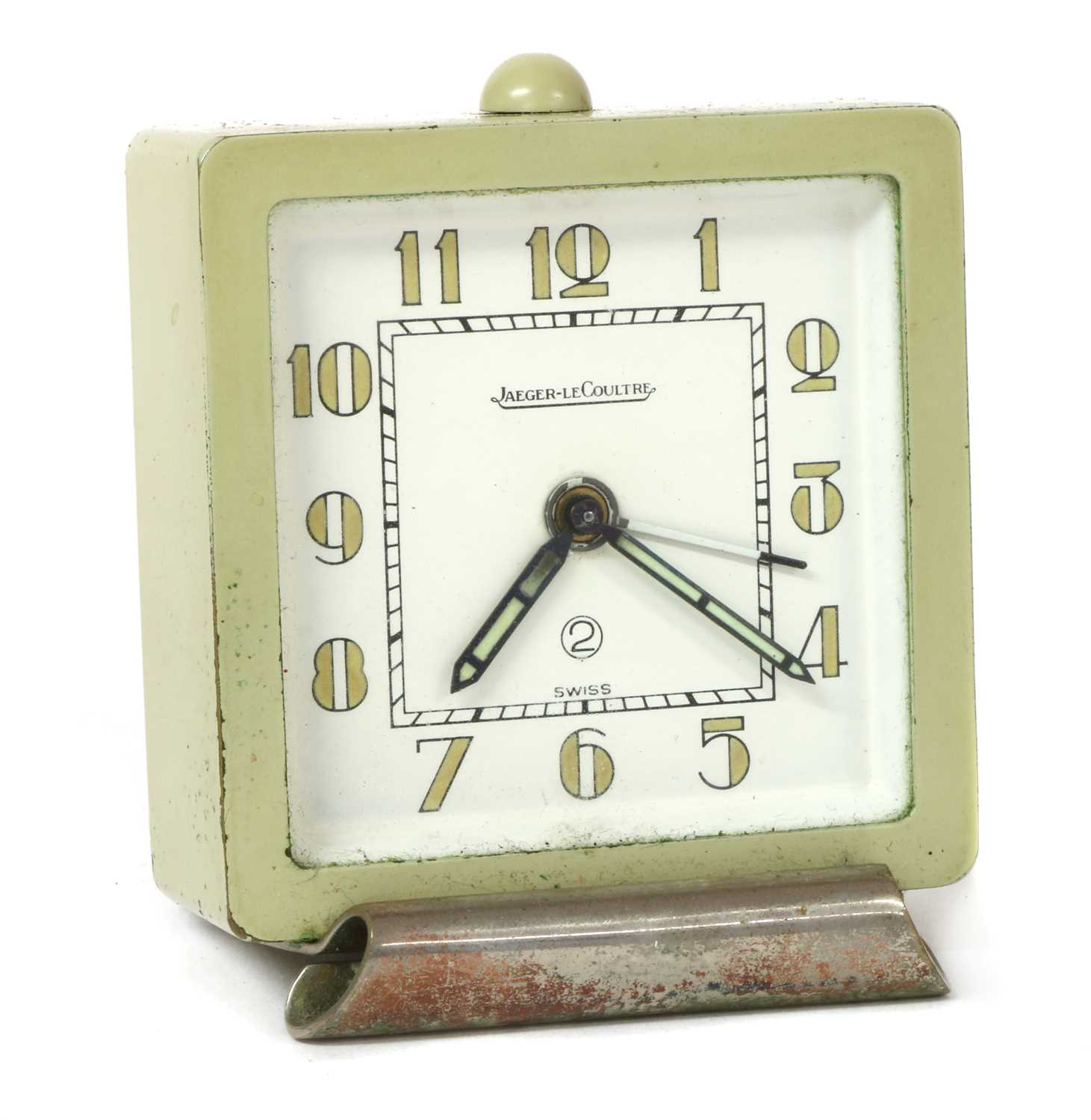 Lot 52 - An Art Deco Jaeger-LeCoultre two day travel alarm clock