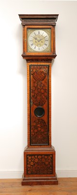 Lot 554 - A William and Mary walnut and marquetry inlaid longcase clock