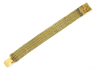 Lot 89 - An Anglo-Indian gold chevron link bracelet
