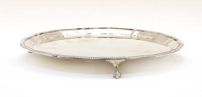 Lot 63 - A modern silver salver by Mappin & Webb