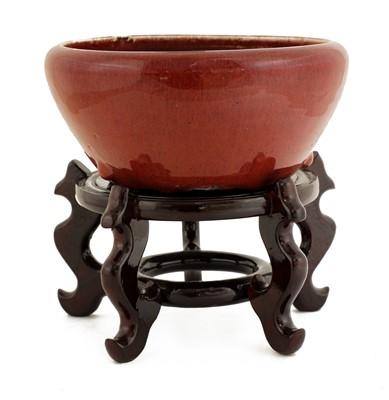 Lot 42 - A Chinese flambé-glazed bowl