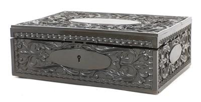 Lot 102 - A Ceylonese ebony box