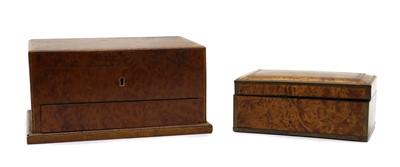 Lot 103A - An amboyna and boxwood strung box