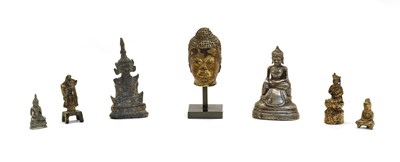 Lot 76 - A collection of miniature Buddhist figures