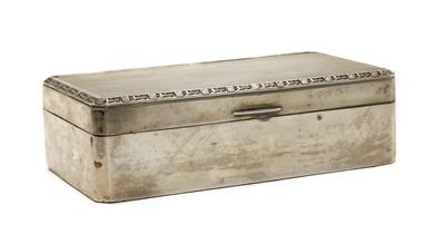 Lot 16 - An Elizabeth II silver cigarette box