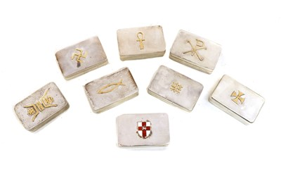 Lot 64 - Eight silver boxes