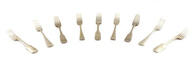 Lot 26 - A pair of George III silver Old English pattern dinner forks
