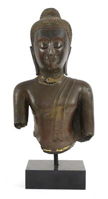 Lot 94 - A gilt-bronze bust of Buddha
