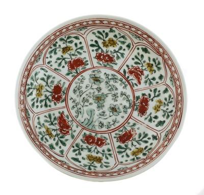 Lot 14 - A Chinese wucai plate