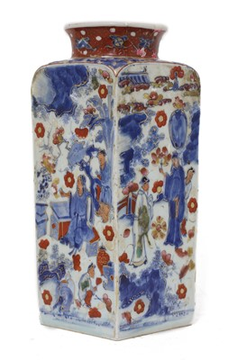 Lot 15 - A Chinese clobbered blue and white vase