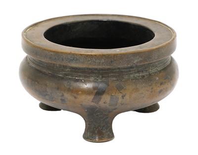 Lot 102 - A Chinese bronze censer