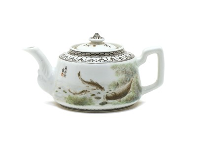 Lot 93 - A Chinese enamelled teapot