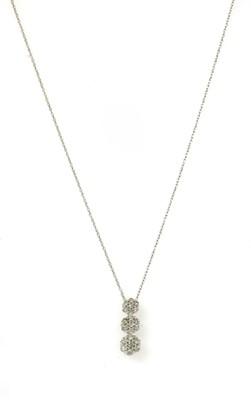 Lot 125 - A white gold diamond cluster pendant