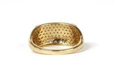 Lot 97 - A gold pavé set diamond ring