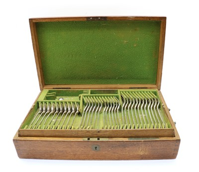 Lot 46 - A composite set of Victorian silver cutlery