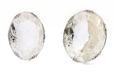 Lot 33 - A pair of pierced silver dishes