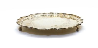 Lot 34 - A silver salver