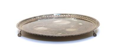 Lot 65 - A silver salver