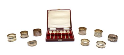 Lot 52 - A collection of silver items