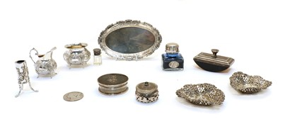 Lot 44 - A collection of silver and plate