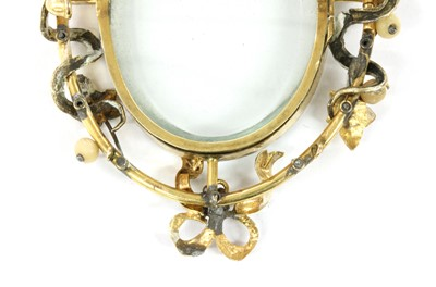Lot 10 - A Victorian gold turquoise, split pearl and pearl locket pendant/brooch