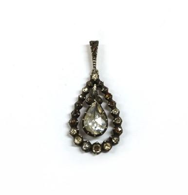 Lot 106 - A Dutch rose cut diamond pendant