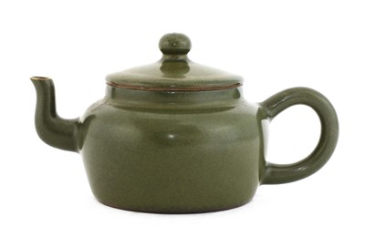 Lot 46 - A Chinese teadust-glazed teapot and cover