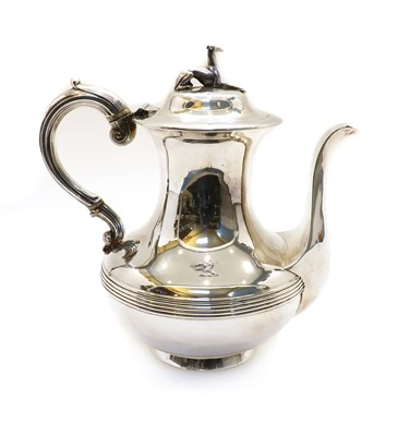 Lot 15 - A Victorian silver coffee pot