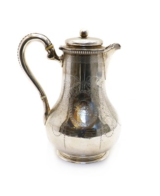 Lot 12 - A Victorian silver chocolate pot