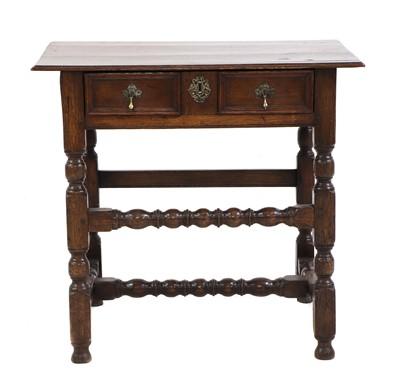 Lot 460 - A James II oak side table