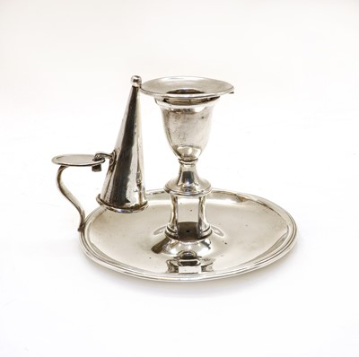 Lot 13 - A George III silver candlestick